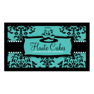 311 Icing on the Cake 3 Tier Turquoise Business Card Templates