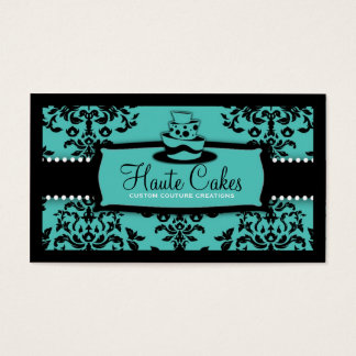 311 Icing on the Cake 3 Tier Turquoise Business Card