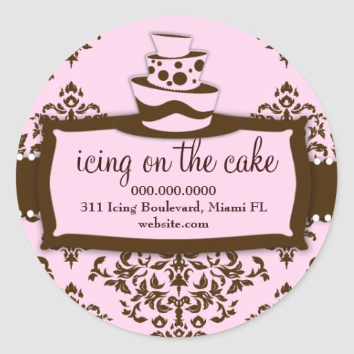 311 Icing on the Cake Baby Pink Classic Round Sticker
