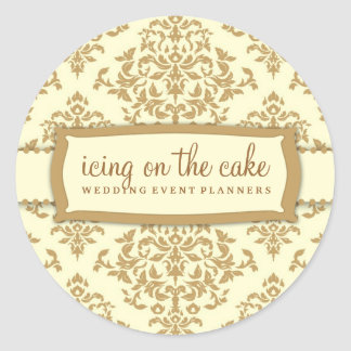311-Icing on the Cake - Buttercream Classic Round Sticker