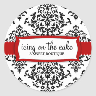 311 Icing on the Cake Cherry Red Classic Round Sticker