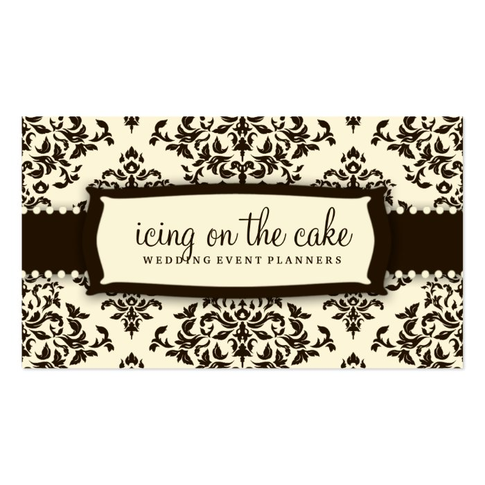 311 Icing on the Cake Chocolate Cream Business Card