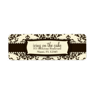 311 Icing on the Cake Chocolate Cream Custom Return Address Labels