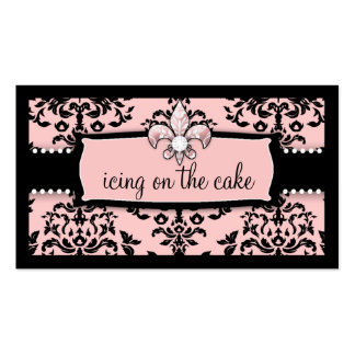 311 Icing on the Cake Fleur Di Lis Sweet Pink Business Card