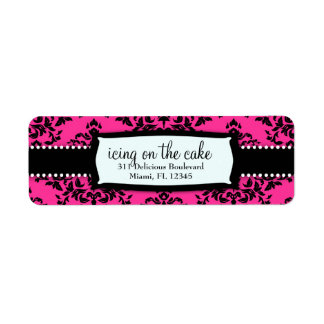 311 Icing on the Cake Hot Pink Address Label
