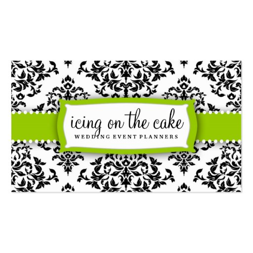 311 Icing On the Cake Lime Green Business Card