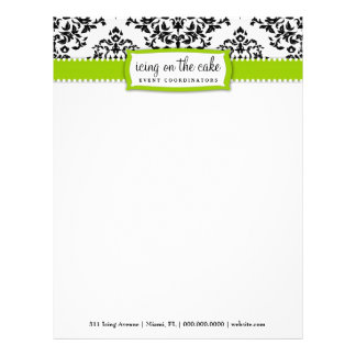 311 Icing on the Cake Lime Green Letterhead