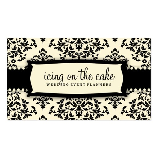 311 Icing on the Cake Liquorice Cream Business Card Template