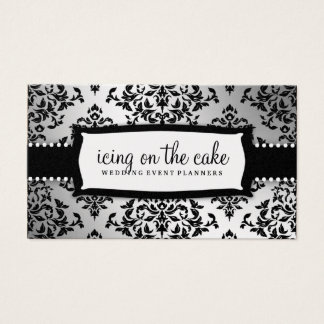 311-Icing on the Cake Metallic Silver Business Card
