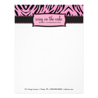 311-Icing on the Cake Pink Liquorice Zebra Letterhead