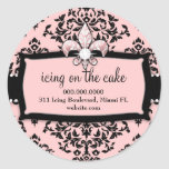 311 Icing on the Cake Sweet Pink Fleur Di Lis Classic Round Sticker