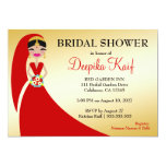 311 Indian Beauty Bride 5x7 Paper Invitation Card