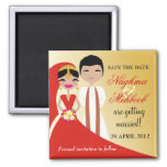 311 Indian Beauty Bride with Groom Fridge Magnets