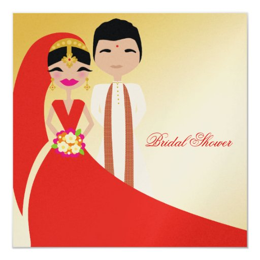 311 indian beauty with groom bridal shower invitation zazzle