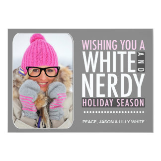 """311 Interactive Glasses Nerdy Pink Holiday Card 5"""" X 7"""" Invitation Card"""
