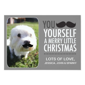 """311 Interactive Moustache Holiday Card 5"""" X 7"""" Invitation Card"""