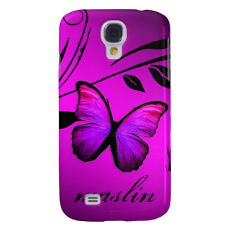 311 iPhone 3 Lustrous Butterfly Pink Purple Samsung Galaxy S4 Cover