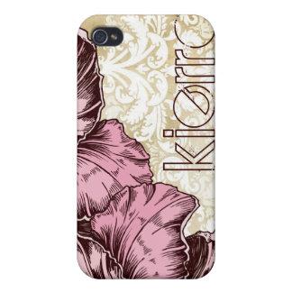 311-iPhone 4 Case | Aloha Hibiscus Vintage Damask