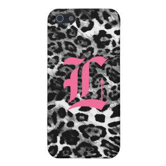311-iPhone 4 Case | Black Leopard Monogram