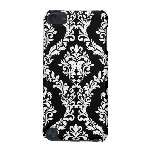 311 iPod Touch Black White Damask iPod Touch 5G Cover
