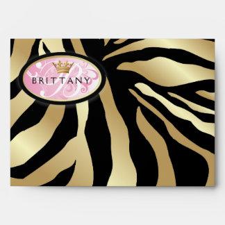 311-Iridescent cebra de oro - sobre rosado