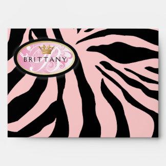 311-Iridescent cebra - rosa en sobre rosado