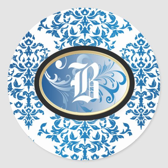 311-Iridescent Damask | Sticker The New Blue