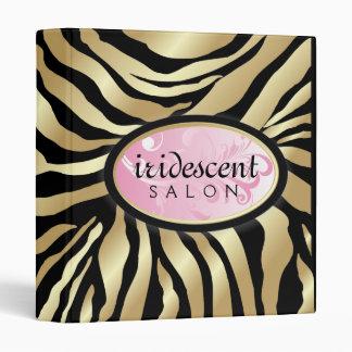 311-Iridescent Golden Zebra - Pink Vinyl Binder