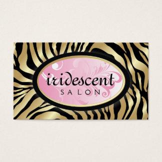 311-Iridescent Golden Zebra - Pink Business Card