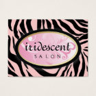 311-Iridescent Zebra Candy Pink on Pink Appt Card