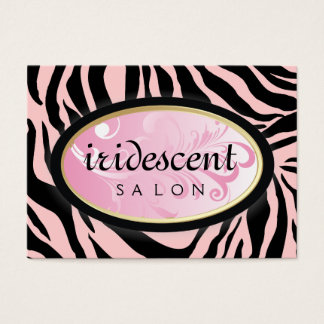 311-Iridescent Zebra Candy Pink on Pink Appt Card