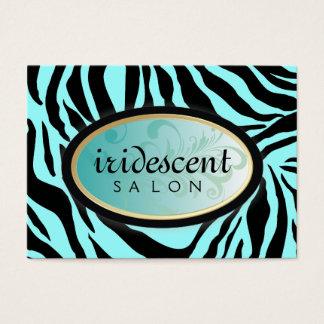 311-Iridescent Zebra Turquiose Appt Card