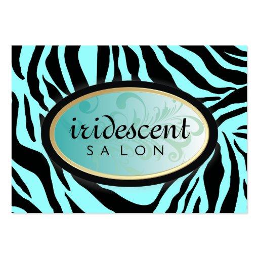 311-Iridescent Zebra Turquiose Appt Card Business Card Templates