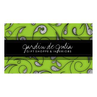 311 Jardin de Julia Lime Double-Sided Standard Business Cards (Pack Of 100)