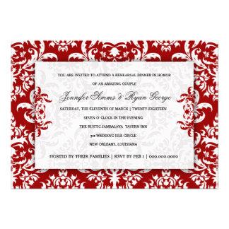 311 Jennifer Red Velvet Damask Invitation