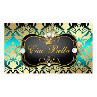 311 Jet Black Ciao Bella Aqua Sass Business Cards
