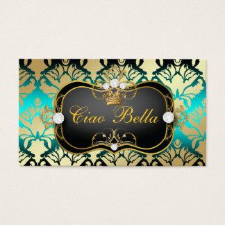 311 Jet Black Ciao Bella Aqua Sass Business Card