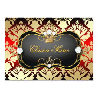 311 Jet Black Ciao Bella Cherry Sass Birthday 5x7 Paper Invitation Card