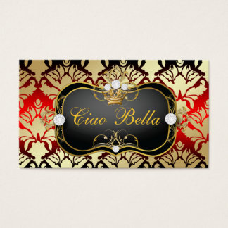311 Jet Black Ciao Bella Cherry Sass Business Card