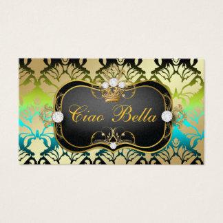 311 Jet Black Ciao Bella Island Sass Metallic Gold Business Card