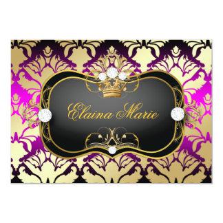 311 Jet Black Ciao Bella Pink Sass Birthday 5x7 Paper Invitation Card