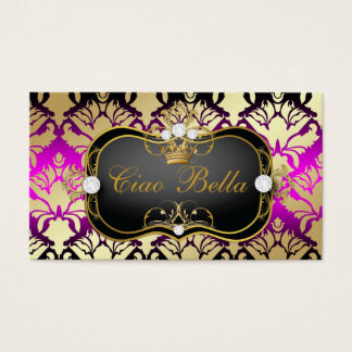 311 Jet Black Ciao Bella Pink Sass Business Card