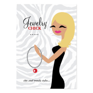311 Jewelry Chick Wavy Blond Large Business Cards (Pack Of 100)