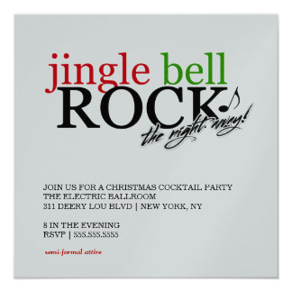 311 Jingle Bell Rock the Night Away Metallic Card