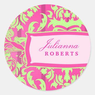 311-Julianna abonan con cal delicioso Etiqueta Redonda