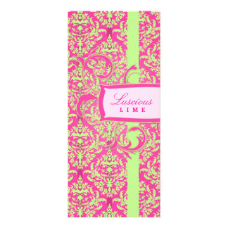 311 Julianna Lusciously Lime & Pink Damask Rack Card