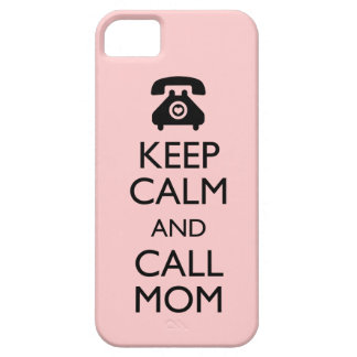311 Keep Calm and Call Mom Peach iPhone SE/5/5s Case