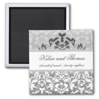 311-Kelsie Silver Glam w/ Crown Save the Date Magnet
