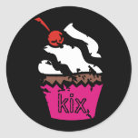 311-Kickin' Cupcake Classic Round Sticker