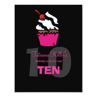 "311-Kickin Cupcake Invitation 4.25"" X 5.5"" Invitation Card"